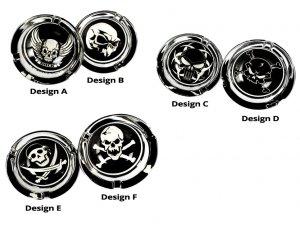 Askkopp Black & White Skull