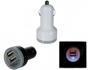 USB Adapter för Cigguttag - Dual