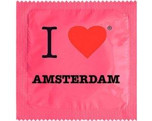 Kondom - I Love Amsterdam Rosa