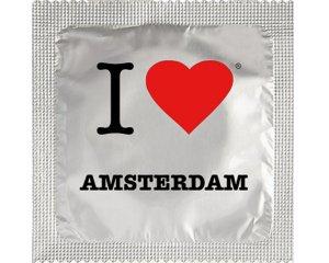 Kondom - I Love Amsterdam Silver