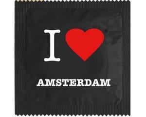Kondom - I Love Amsterdam Svart