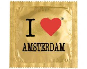 Kondom - I Love Amsterdam Guld