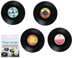 Glasunderlägg Vinyl-skivor