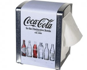 Coca-Cola Servetthållare - Bottles