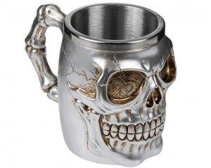 Mugg Silver Skull & Bones