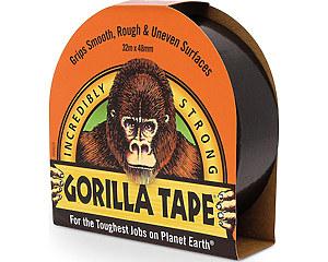 Vävtejp Gorilla, Svart 32 meter