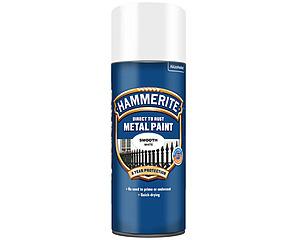 Hammerite Slätlack Spray Vit 400ml
