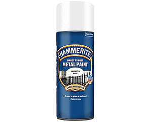 Hammerite Slätlack Spray Vit 400ml