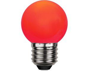 Decoration LED E27 Rund Röd