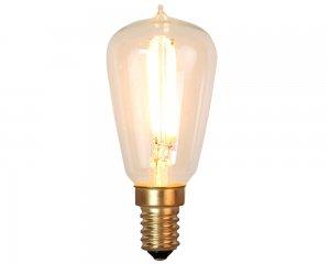 Decoration LED Klar filament lampa E14 2200K 120lm Dimmerkomp