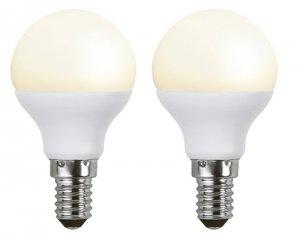 2-pack LED E14 3W (25W) - Klot