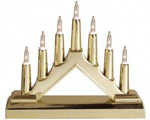 Mini-Ljusstake Guld Batteridriven