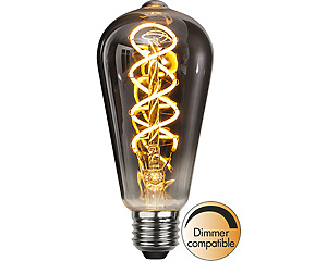 LED-lampa E27 ST64 Flexifilament, Industrial Vintage