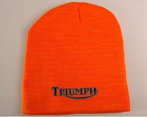 Mössa - Triumph orange & vit