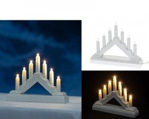 Mini-Ljusstake Vit Batteridriven LED
