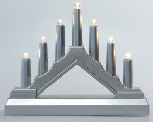 Mini-Ljusstake Silver Batteridriven LED