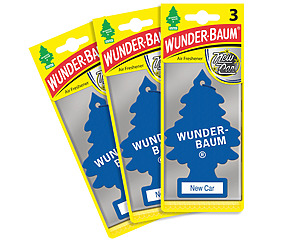 Wunderbaum 3-pack, New Car Scent