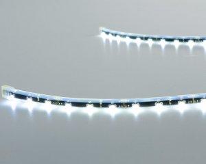 LED Flex Stripe 40 LED, Vitt ljus, 1m - 24 volt