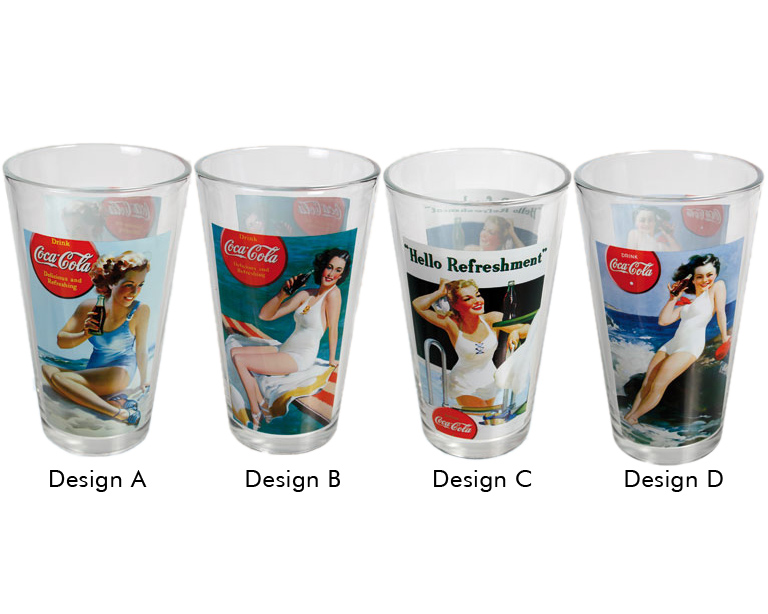 Coca-Cola Glas Pin-up
