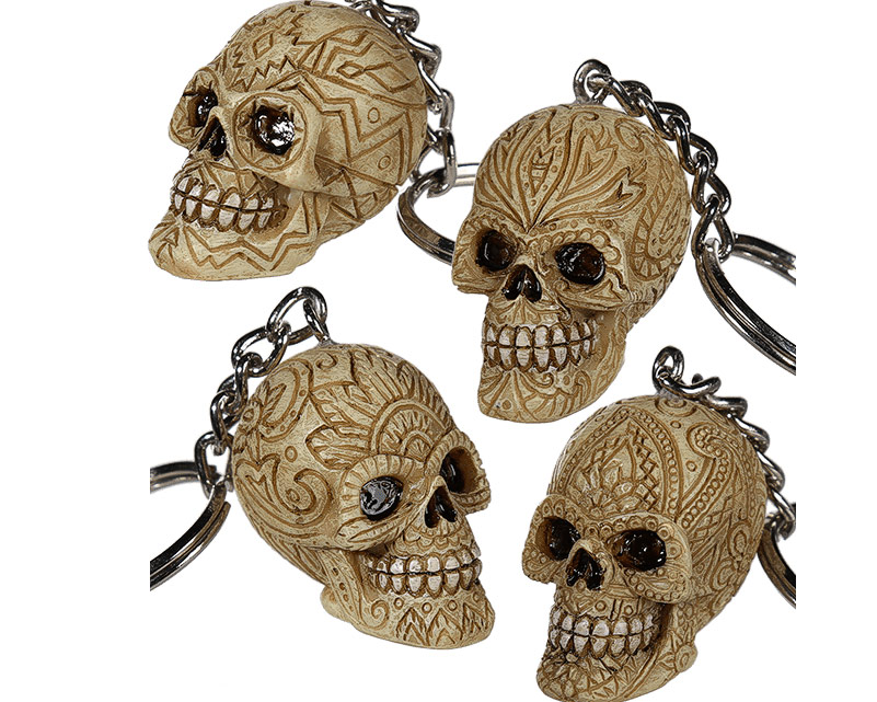 Nyckelring Dödskalle Ornament 30f8687acafd4