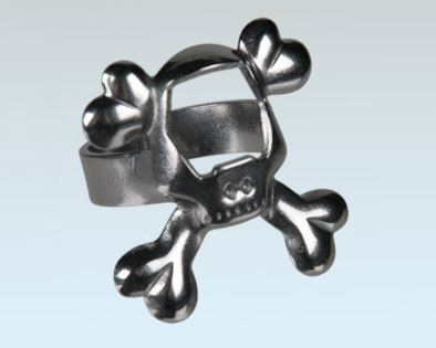 Bottle Opener Ring Skull Kapsylöppnare thumbnail