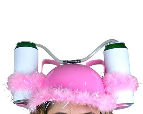 Drinking Helmet - Rosa & Fjädrar thumbnail