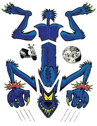 Blue Wolf - Dekalkarta