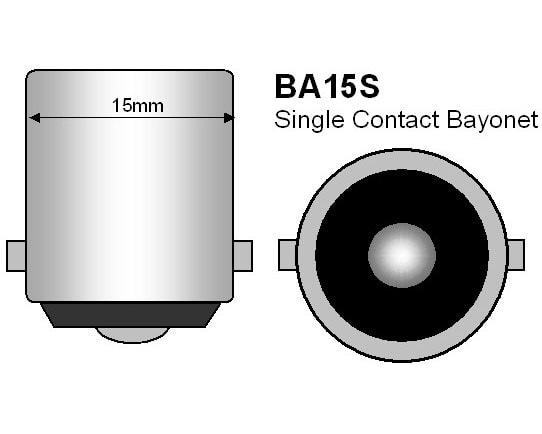 Köp blå LED glödlampa BA15d till bilen för 49 kr   Glödlampor &