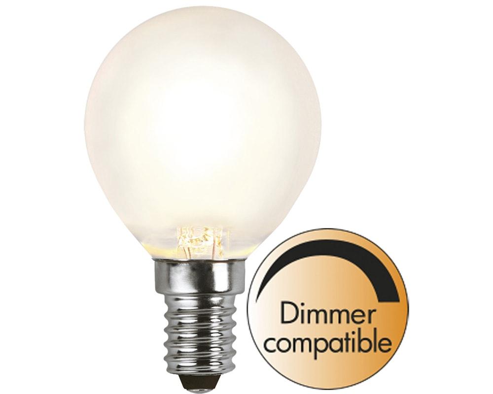 Fantastisk Köp klotformad frostad E14 LED-lampa på 2700K/32w för hemmet, 49 kr | EN-39