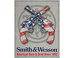 Smith & Wesson Amercian Born - Retro Skylt