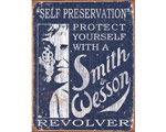 S & W Self Preservation - Retro Skylt