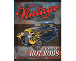 Vintage Custom Hot Rods - Retro Skylt