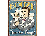Booze Therapy - Retro Skylt