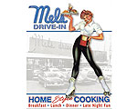 Mels Drive In Car Hop - Retro Skylt