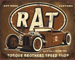 Torque Brothers Rat Rod - Retro Skylt
