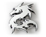 Emblem Chrome Style - Dragon