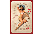 3D Metallskylt Pin Up - Kalender Enjoy 20x30