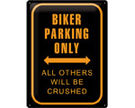 3D Metallskylt Best Garage - Biker Parking 30x40