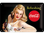 3D Metallskylt Coca Cola - Beautie 20x30
