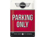 3D Metallskylt Mini - Parking Only 20x30