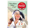 3D Metallskylt Coca Cola - Beauties Wings 30x40