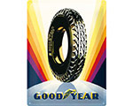 Mer info om 3D Metallskylt Good Year Sunrise Wheel 30x40