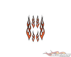 Flames Orange - Stickers